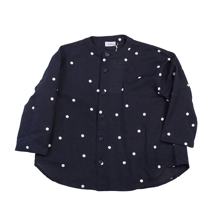 Unity Blouse - Navy Dot