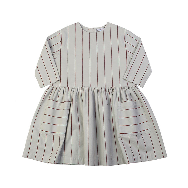 Stripe Gather Dress - Mint
