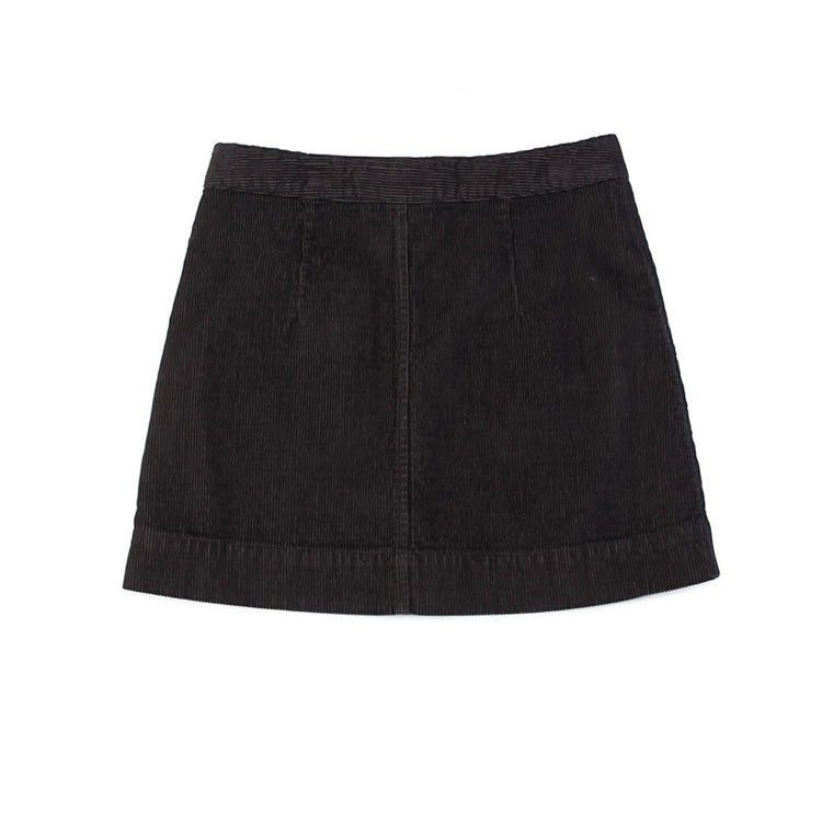 A Line Skirt - Charcoal