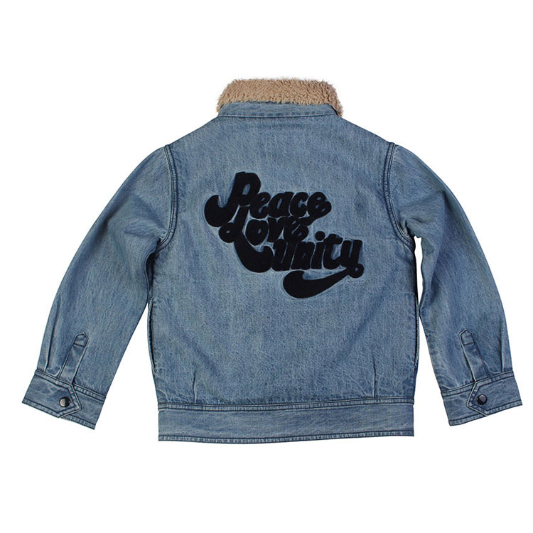 Peace Love Unity Jacket - Denim