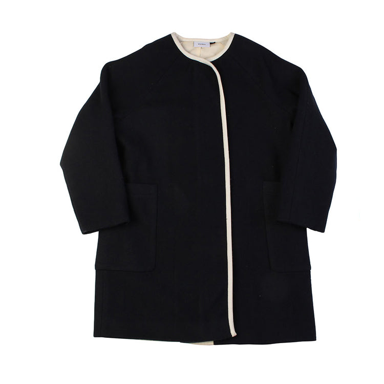 B-Girl Coat - Navy Melton