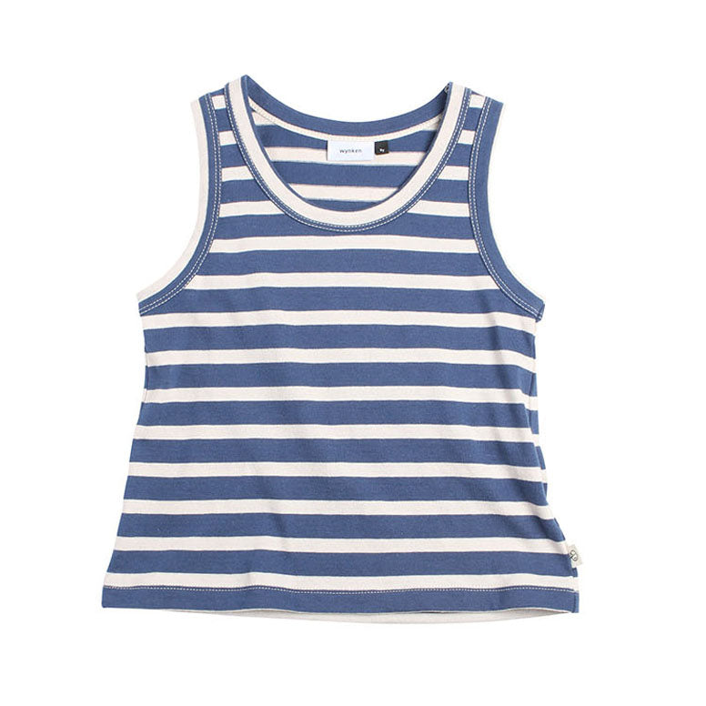 Stripe Vest - Night Blue Stripe