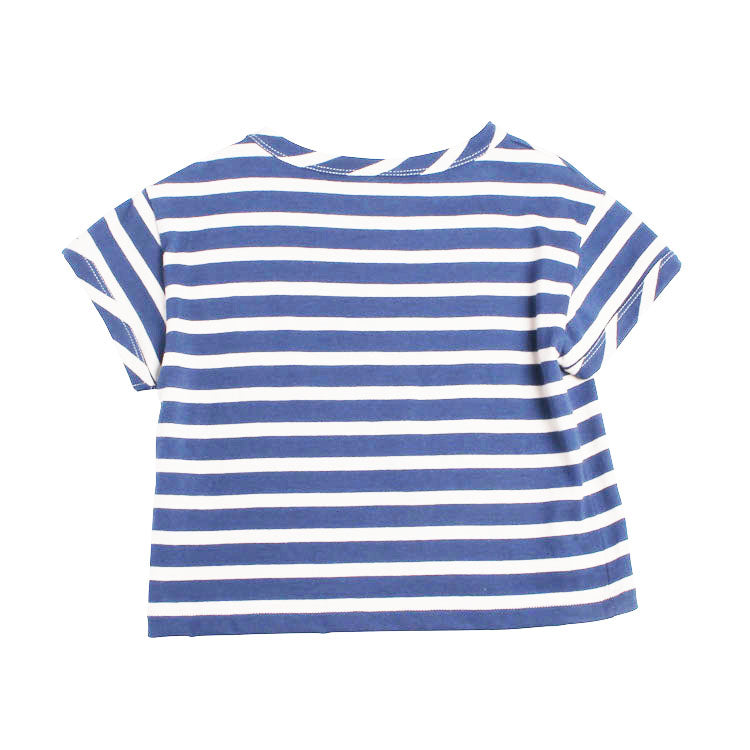 Wide Stripe Tee - Night Blue Stripe