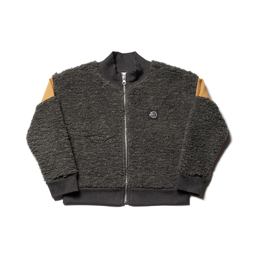 Banded Modern Track Top - Charcoal Fur