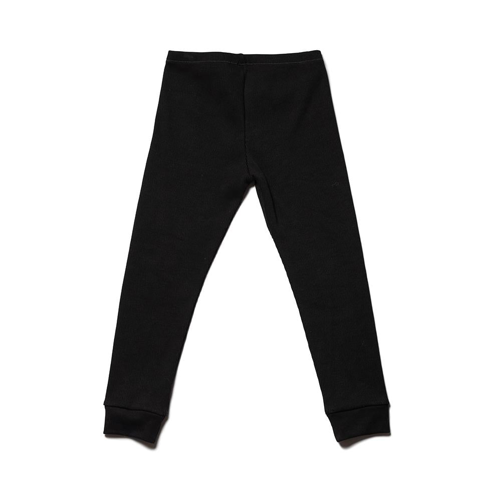 Daily Legging - Black Medium Rib