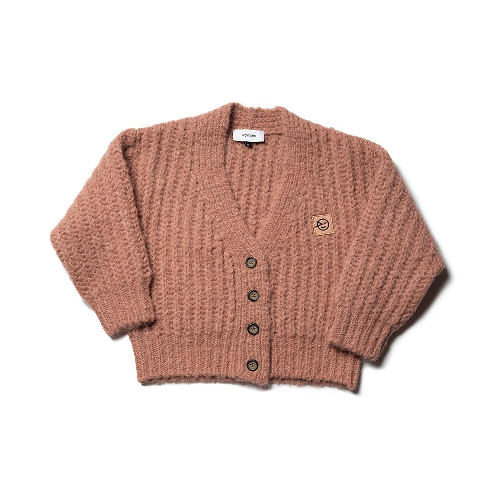Big Rib Cardigan - Clay Pink