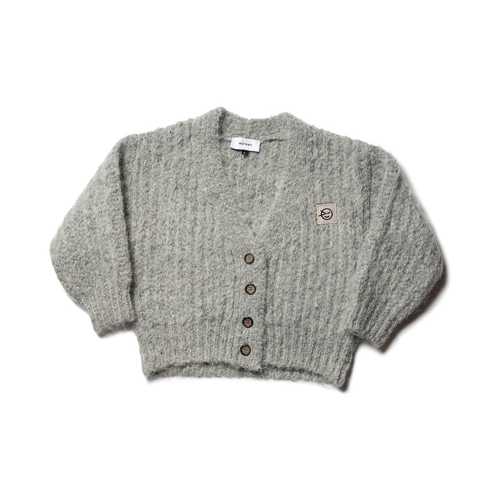 Big Rib Cardigan - Smoke