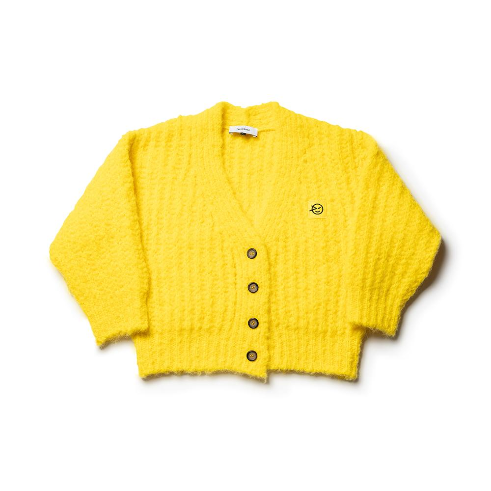 Big Rib Cardigan -Yella