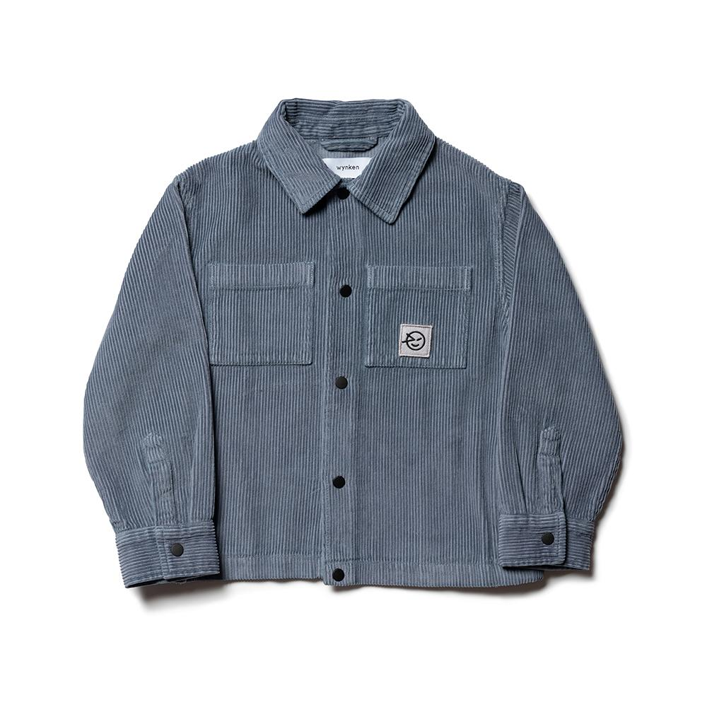 Cord Shirt Jacket - Smoke Blue Jumbo Cord