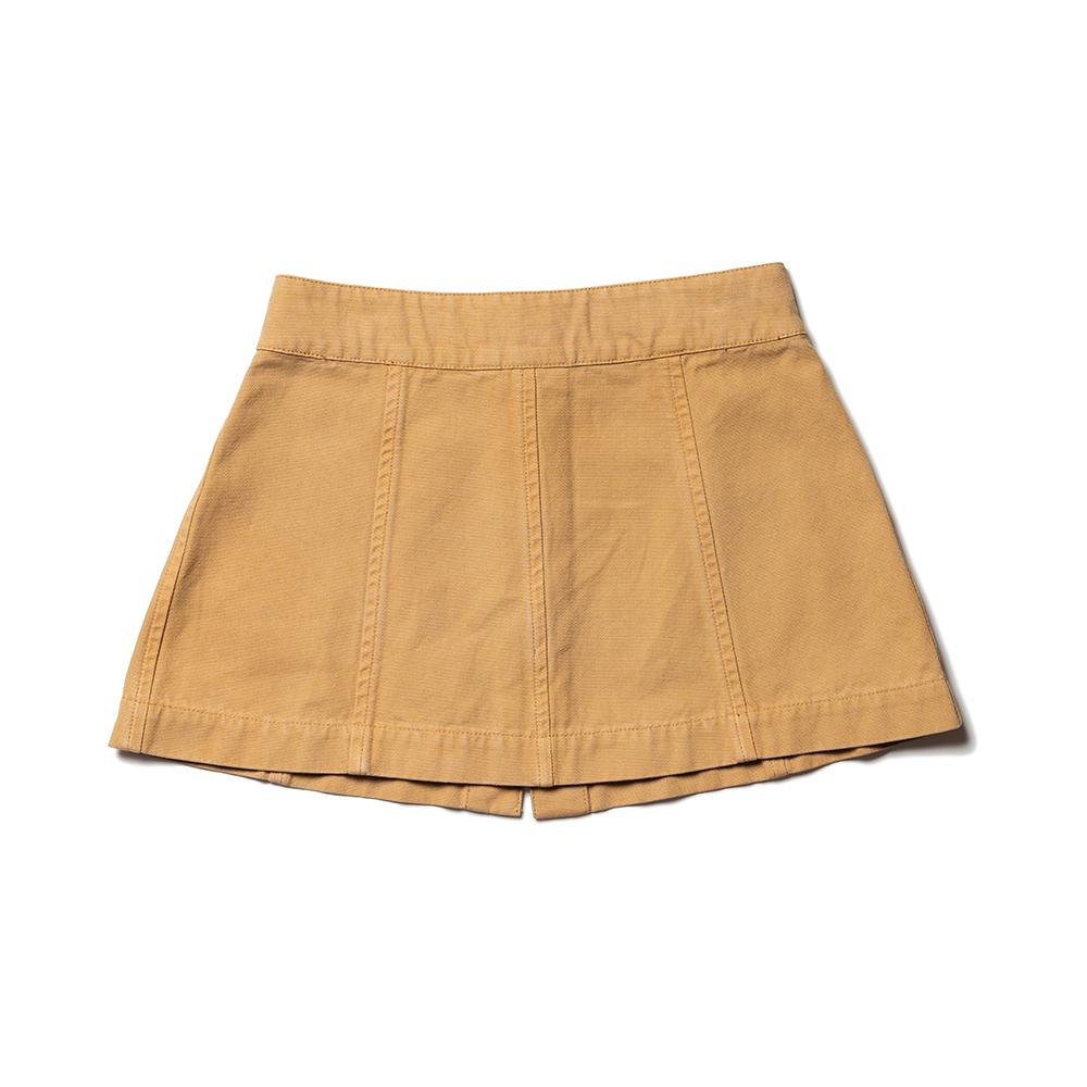 A Line Panel Skirt - Ginger