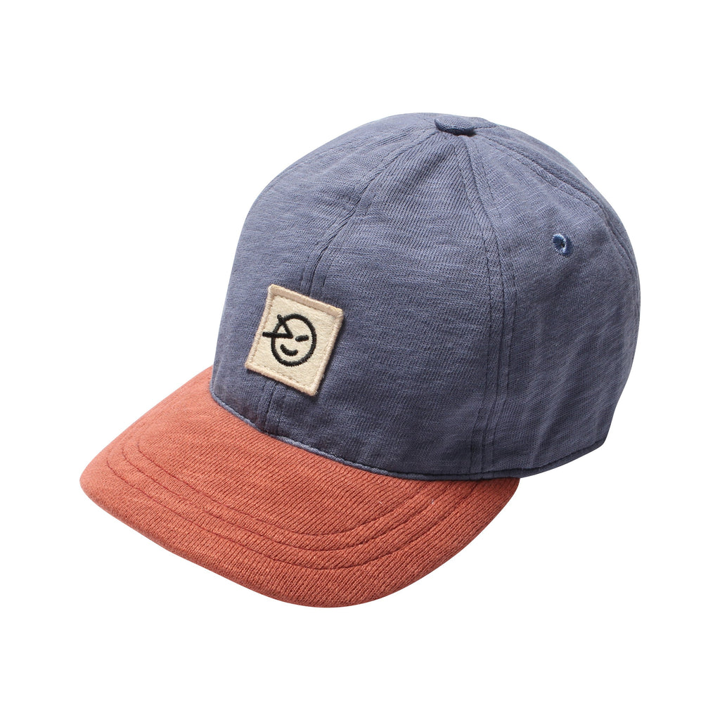 Badge Cap - Deep Coral/Blue