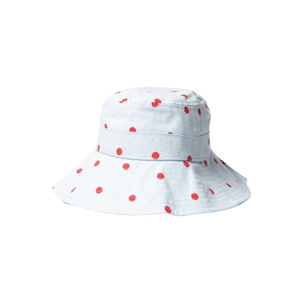 Wide Brim Hat - Blue / Red