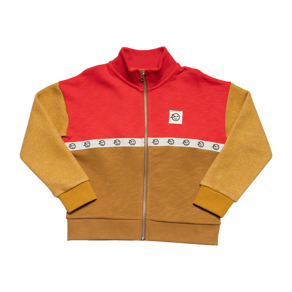 Modern Track Top - Red / Bronze / Gold