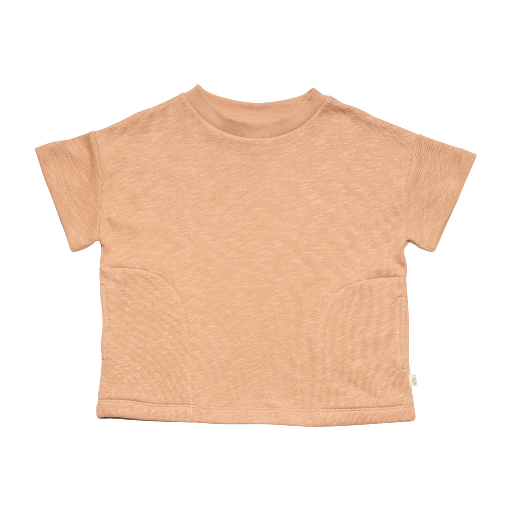 Short Sleeve Sweat - Dull Pink