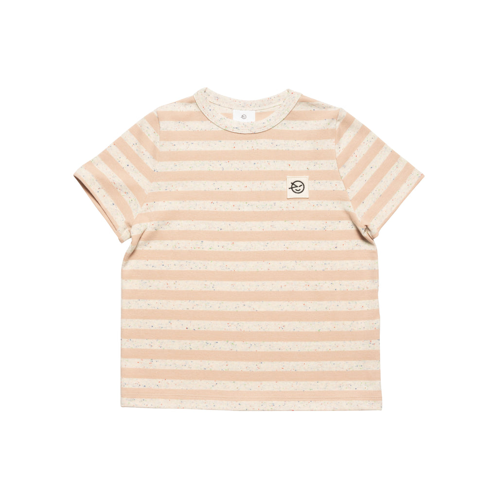 Stripe Tee - Pink / Cabbage White