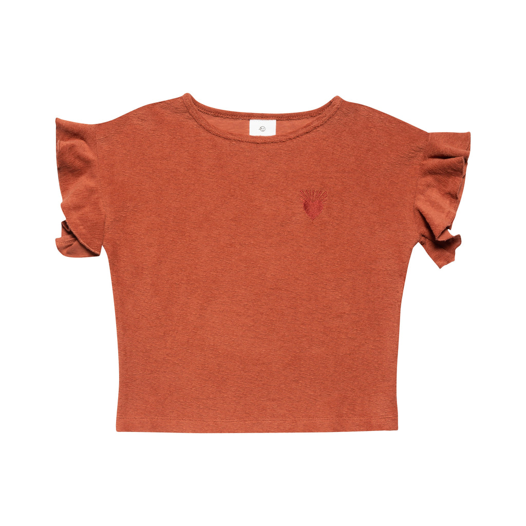 Ayers Jersey Top - Coral Terry