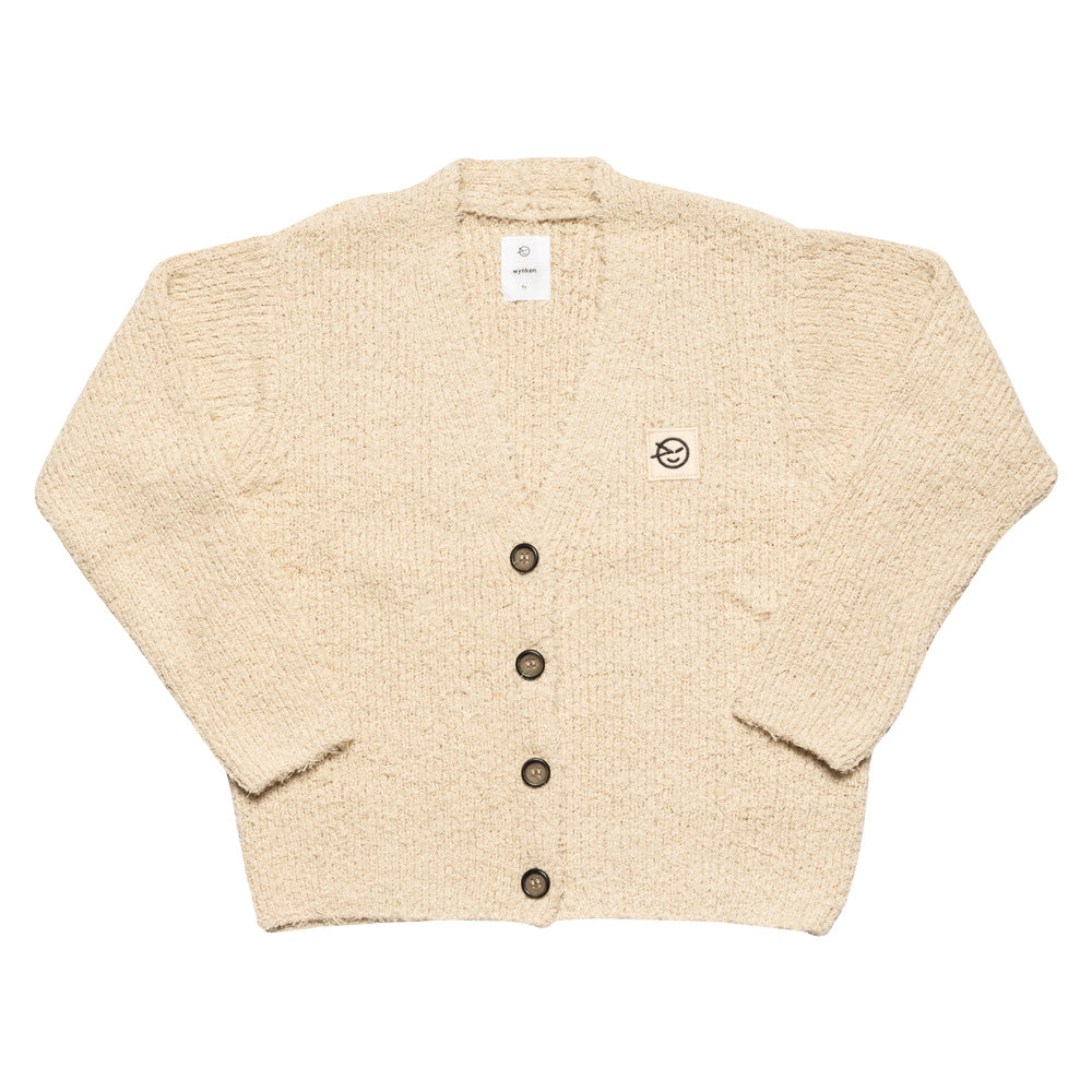 Shaggy Cardigan - Chalk