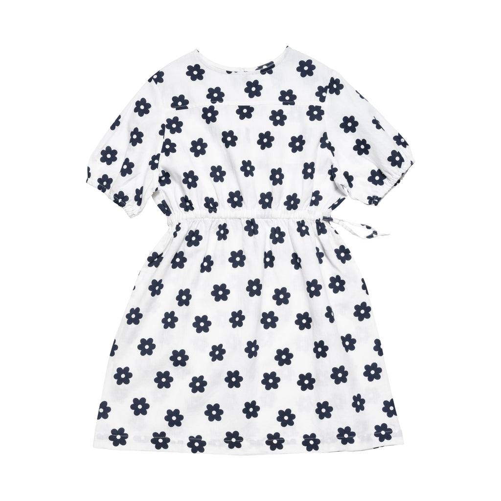 Ayers Dress - White/Navy