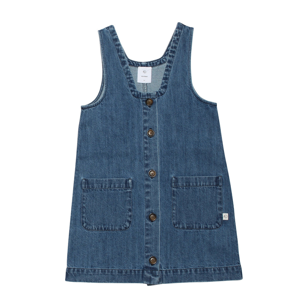 Pinafore - Mid Blue Denim