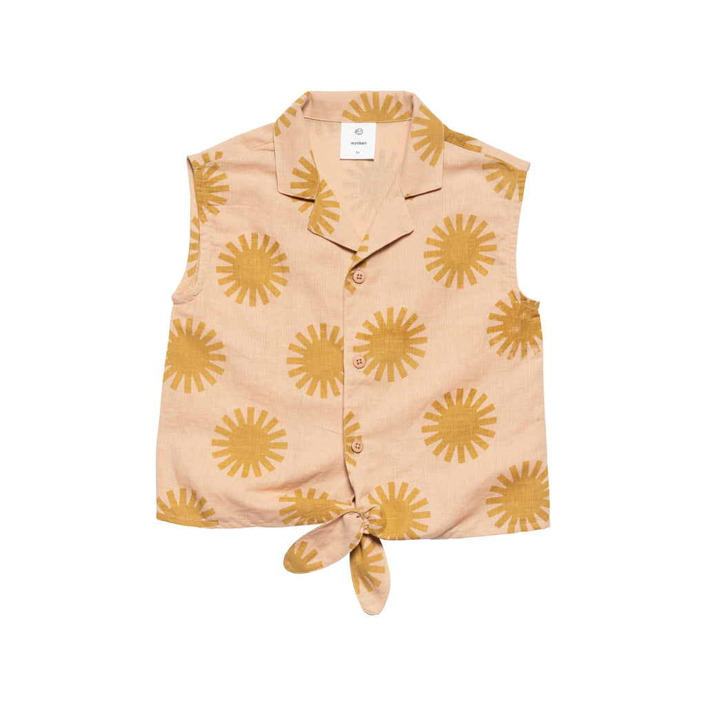 Tie Shirt - Pink/Golden
