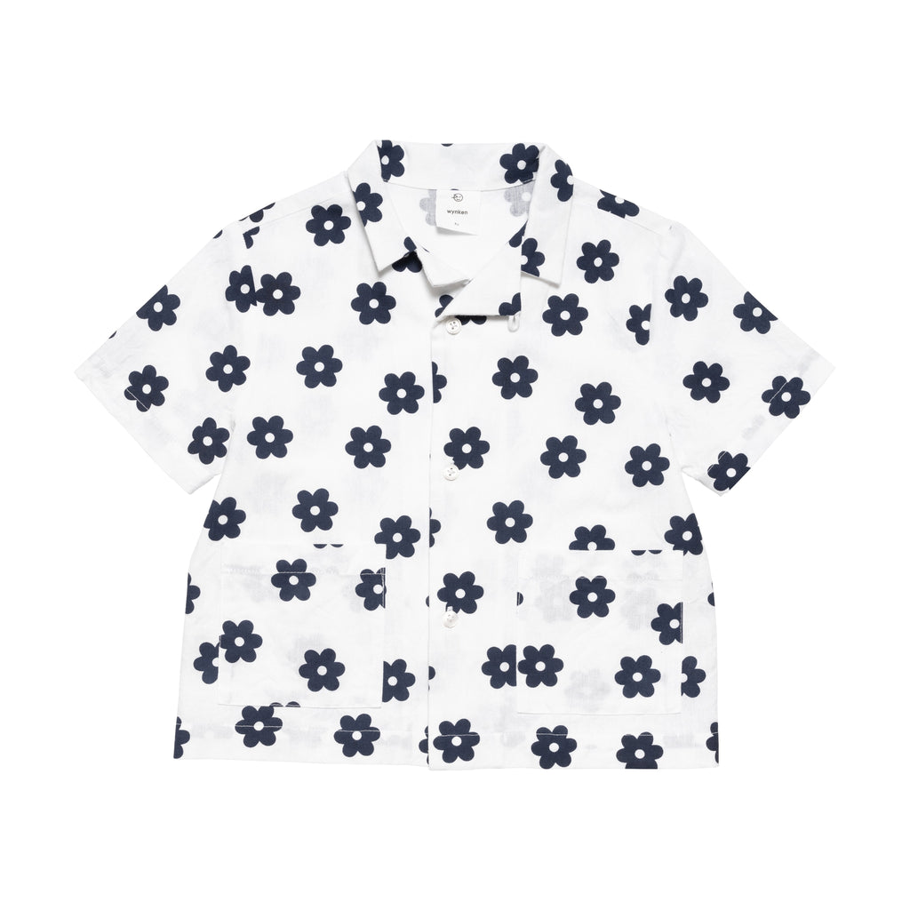 Cuban Shirt - White/Navy
