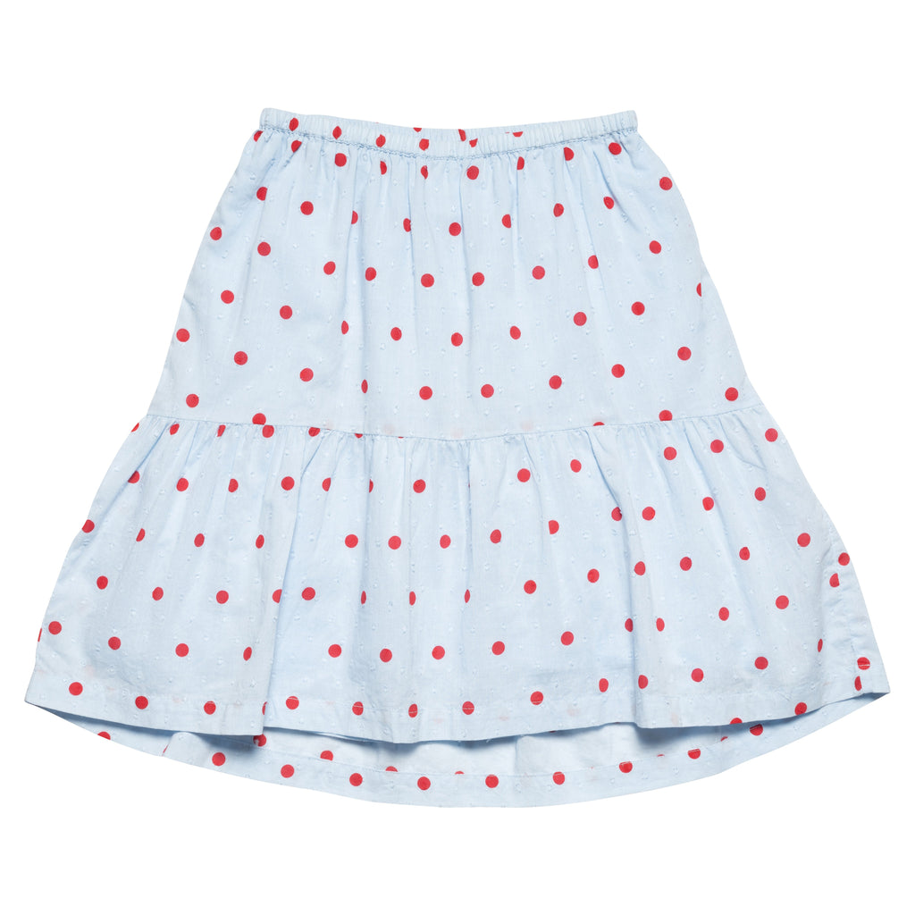 Two Tier Skirt - Blue /Red