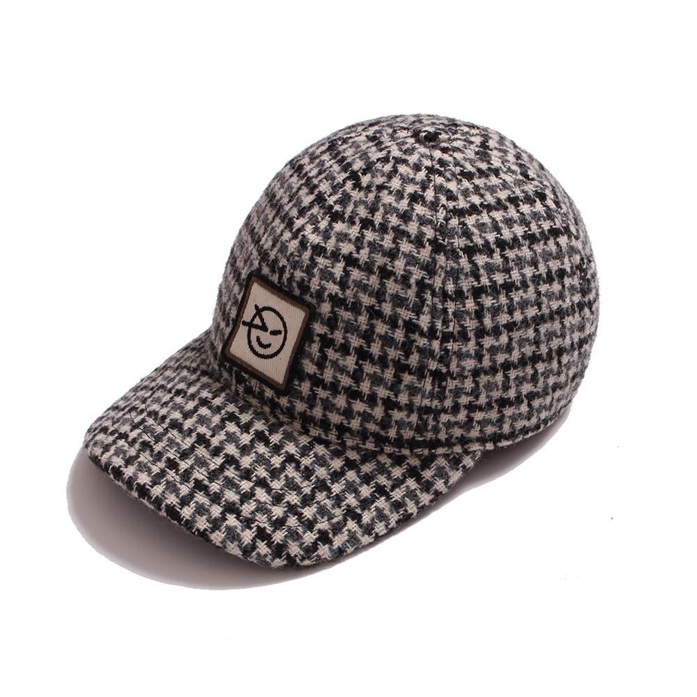 Badge Cap - Oatmeal Dogtooth