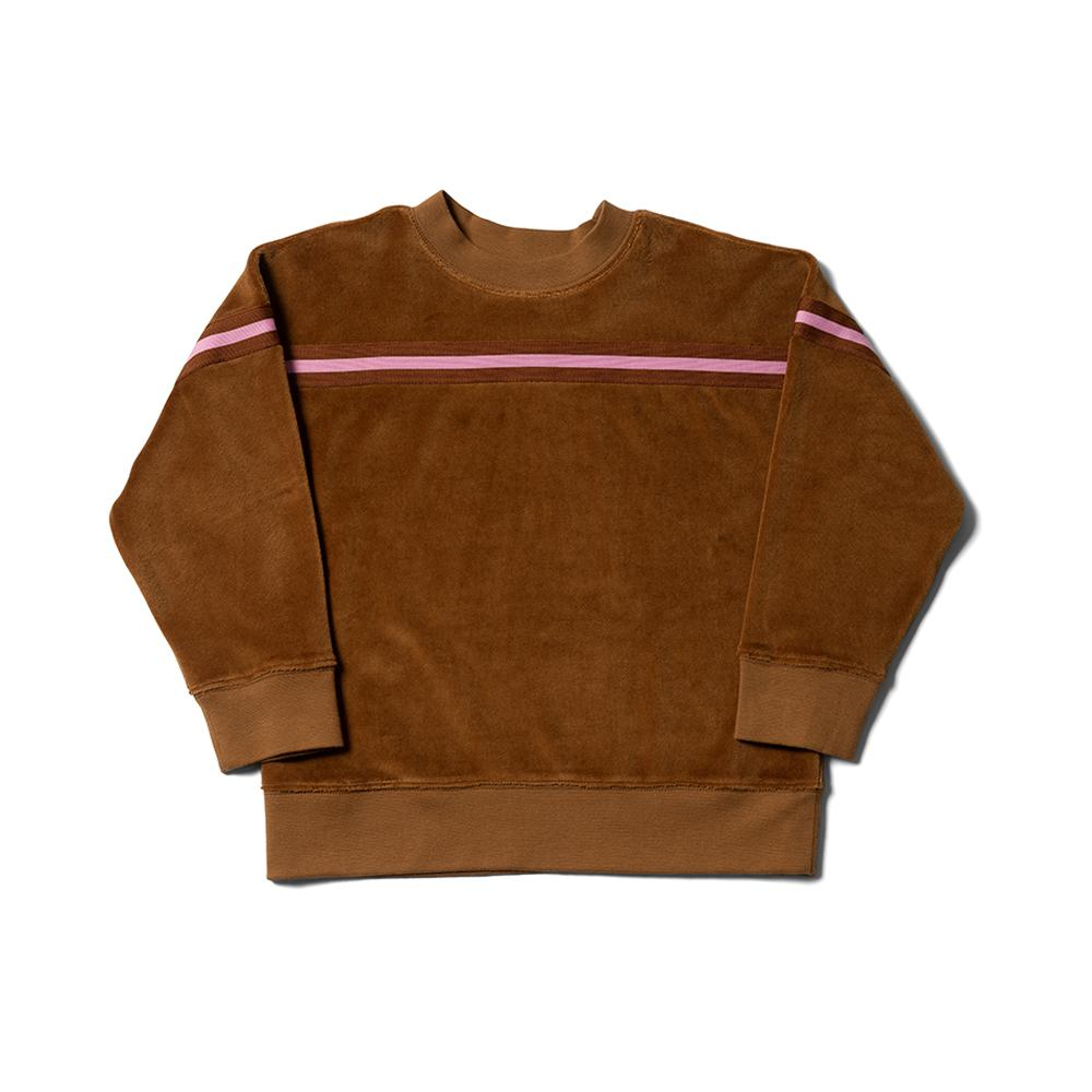 Stripe Tape Sweat - Soft Umber