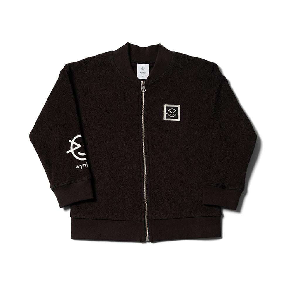 Modern Terry Track Top - Black