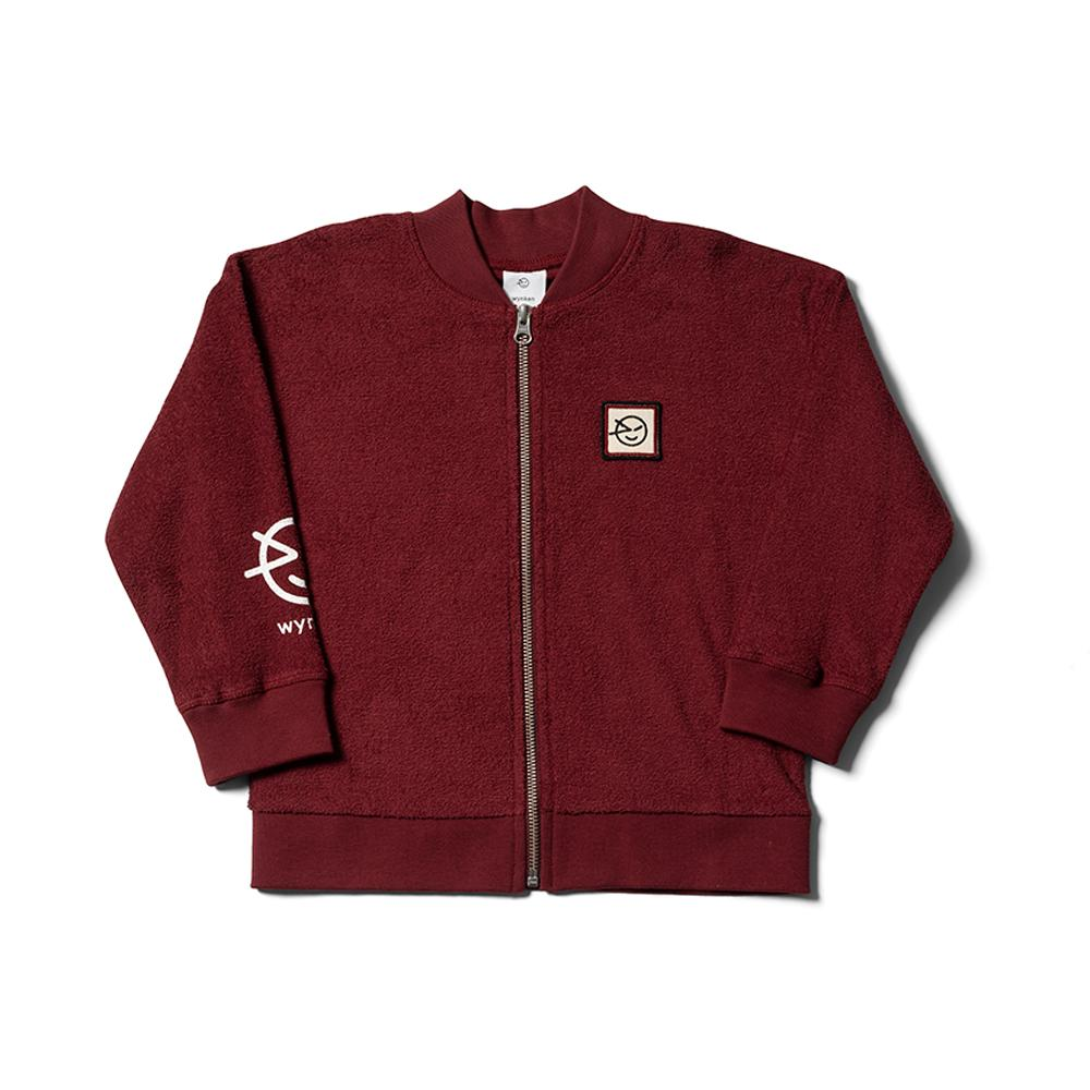 Modern Terry Track Top - Burgundy