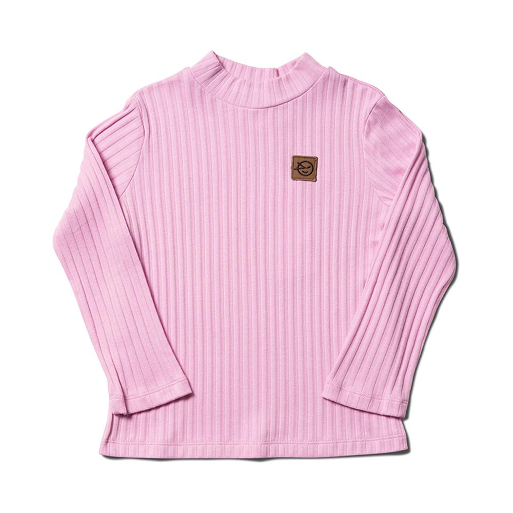 Long Sleeve Demi Turtle Neck - Mallow Big Rib
