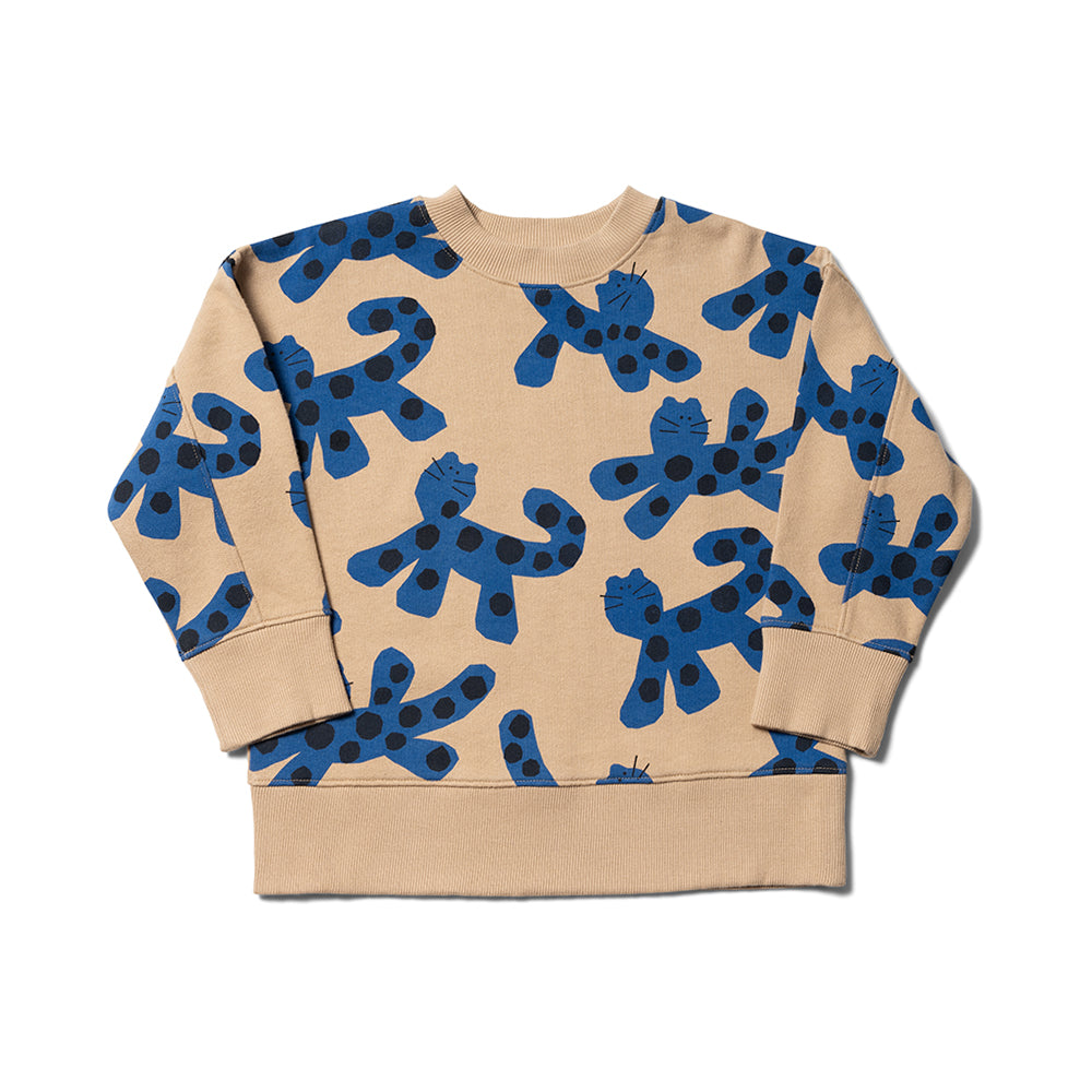 Slouch Sweat - Sand/ Otomi Blue