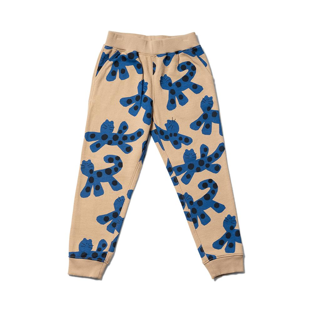 Slouch Sweat Pant - Sand / Otomi Blue