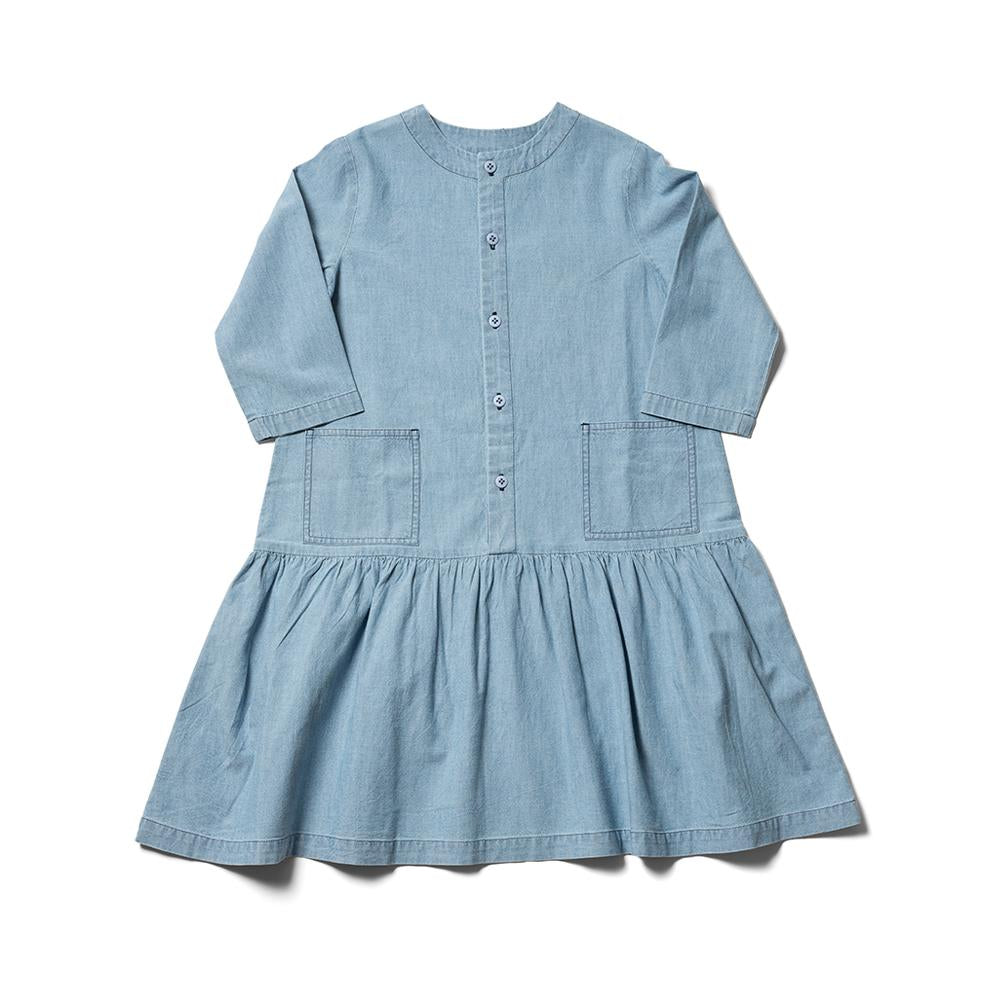 Karamu Dress - Light Bleached Chambray