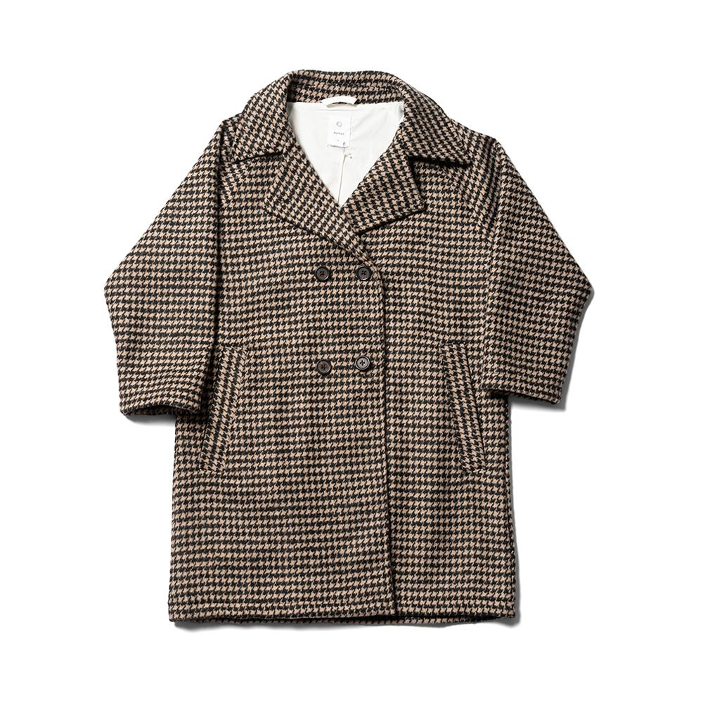 Pod Coat - Oatmeal Dogtooth