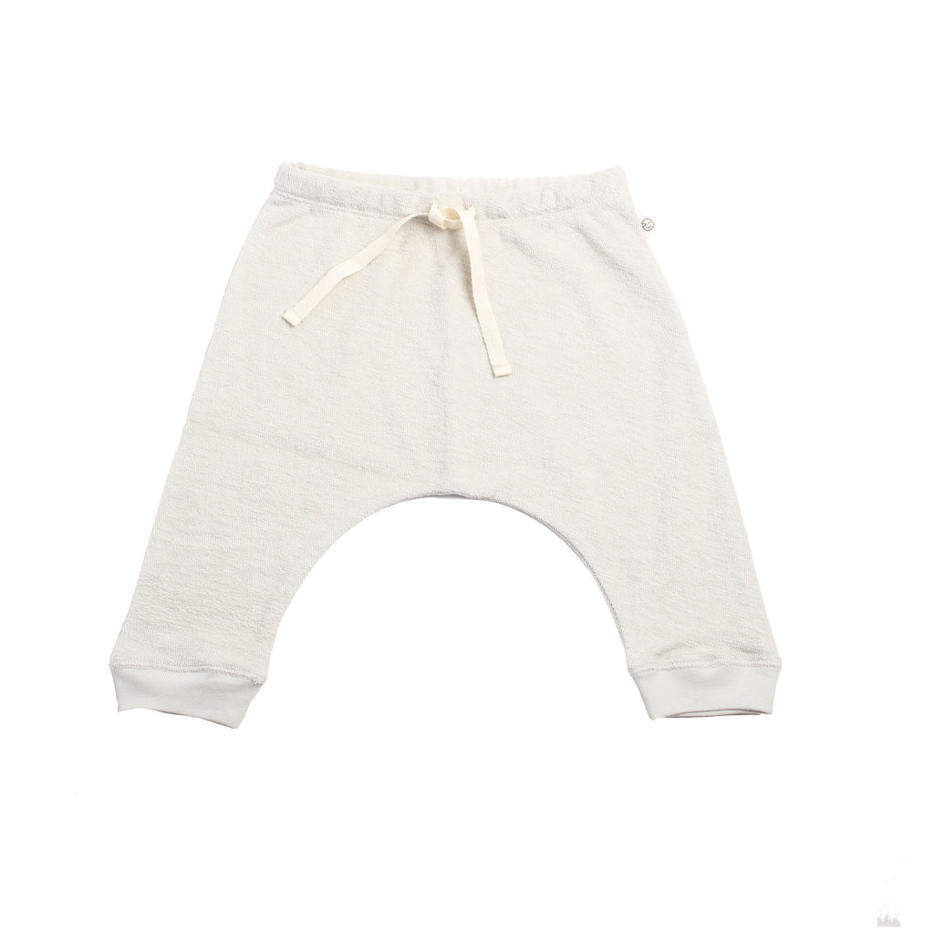 Baby Pant With Cuff - Talc Terry
