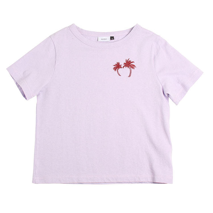 Palm Embroidery Tee - Sunset