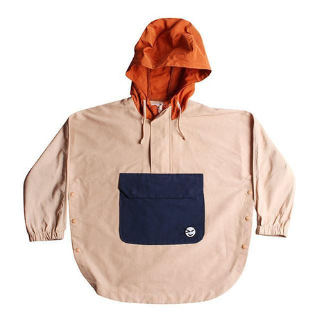 Poncho - Pink/Rust/Navy