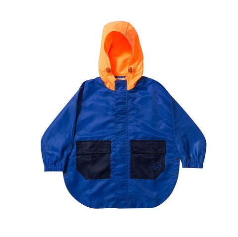 Zip Through Poncho - Bright Blue