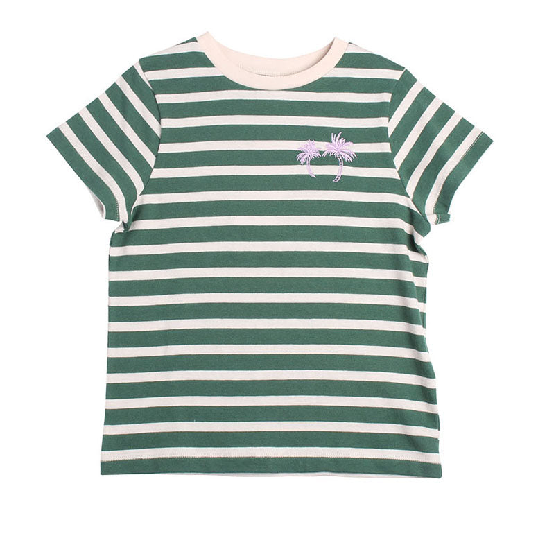Stripe Palms Tee - Palm Stripe