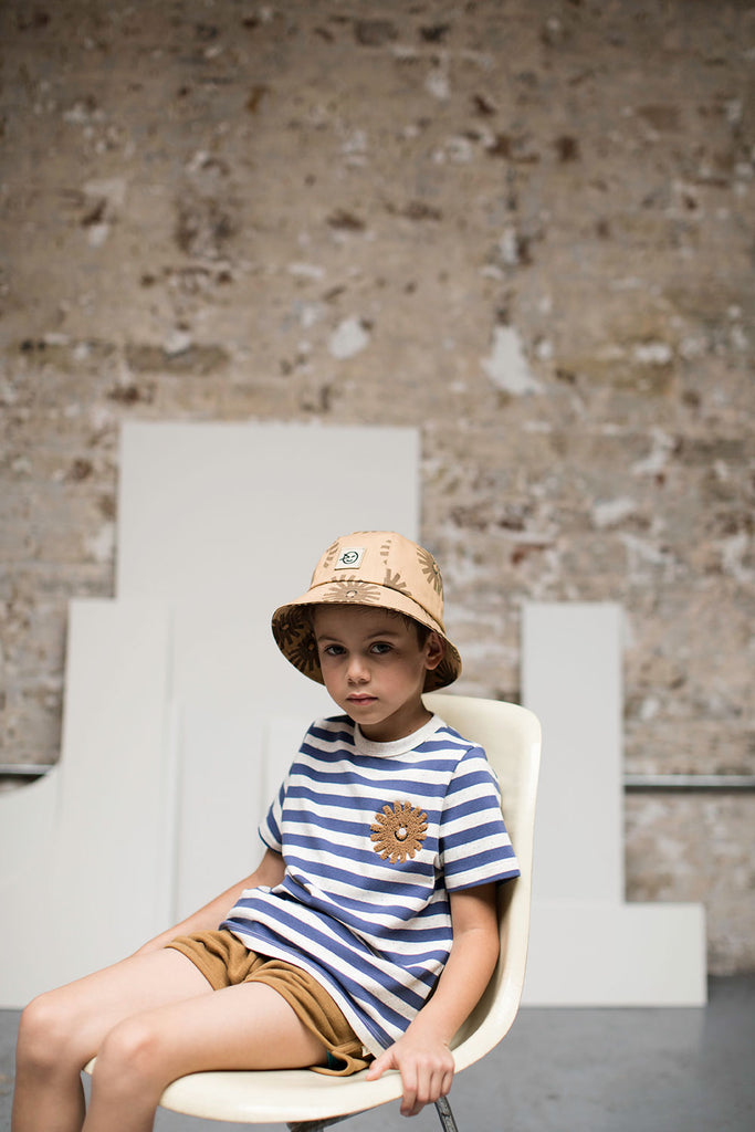 Sunshine Stripe Tee - Blue / Cabbage White