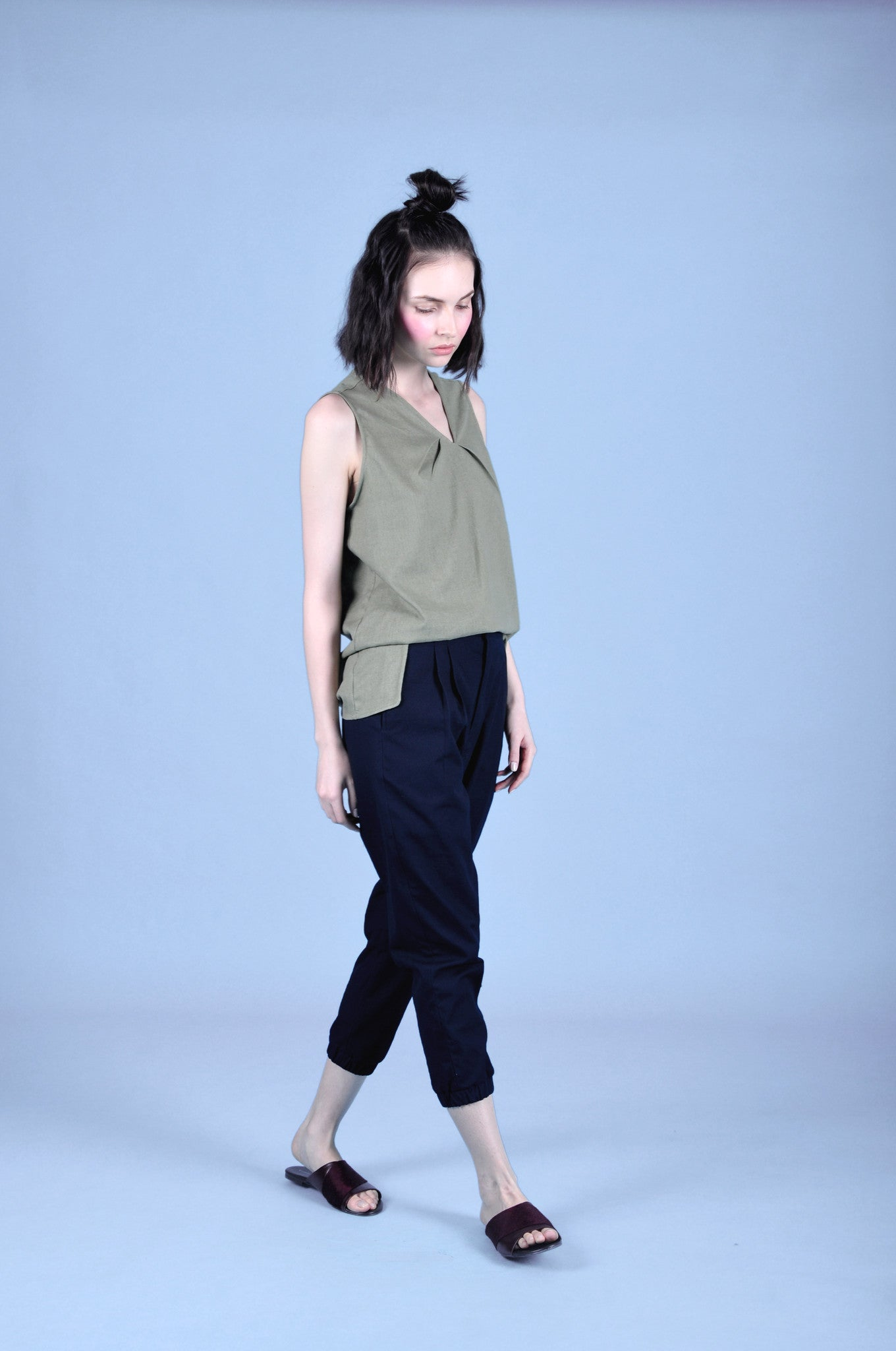 RIKU  THE HIGH WAISTED TAPERED TROUSERS