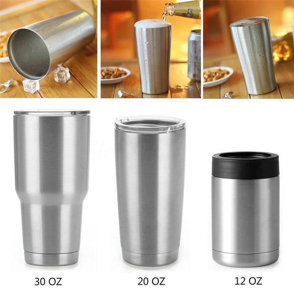 New Drinkware Stainless Steel Double Wall Tumbler With Lid Travel Cup 12/20/30oz Vacuum Insulated  Vacuum Thermoses