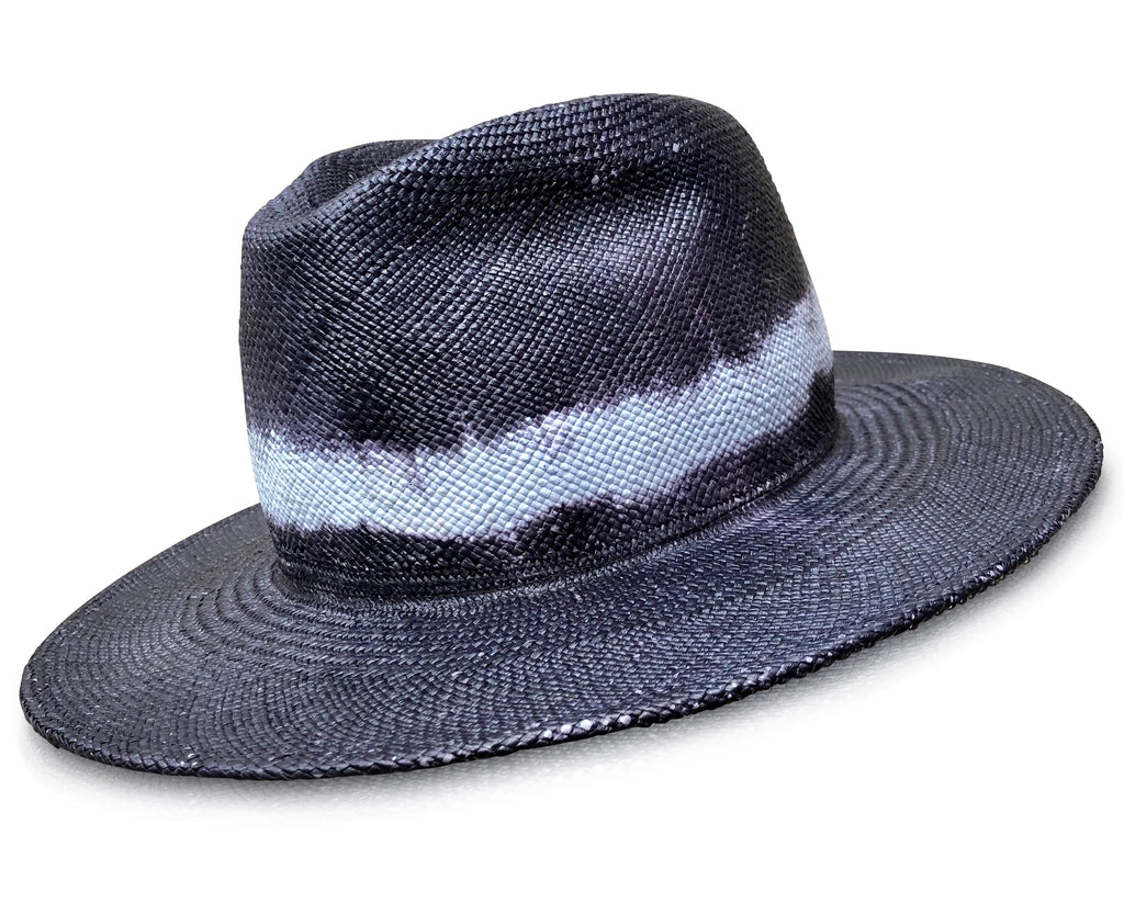 Devin - Distressed Panama Straw Fedora