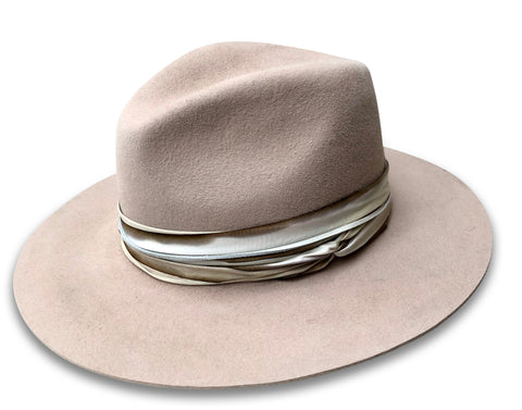Fawn - Western Weight Fedora with Table Straight Brim