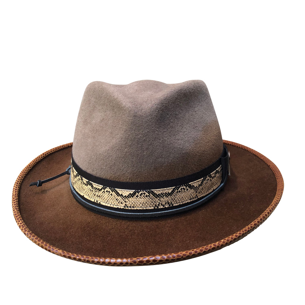 Guy - Dip Dyed Tear Drop Fedora