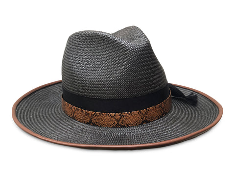 black straw fedora