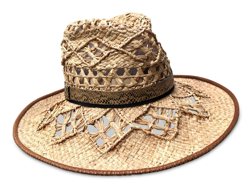 Mala - Raffia Crochet Beach Hat