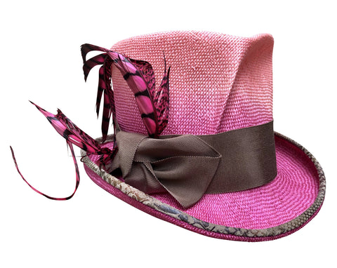 Pink Devil - Ombre Top Hat
