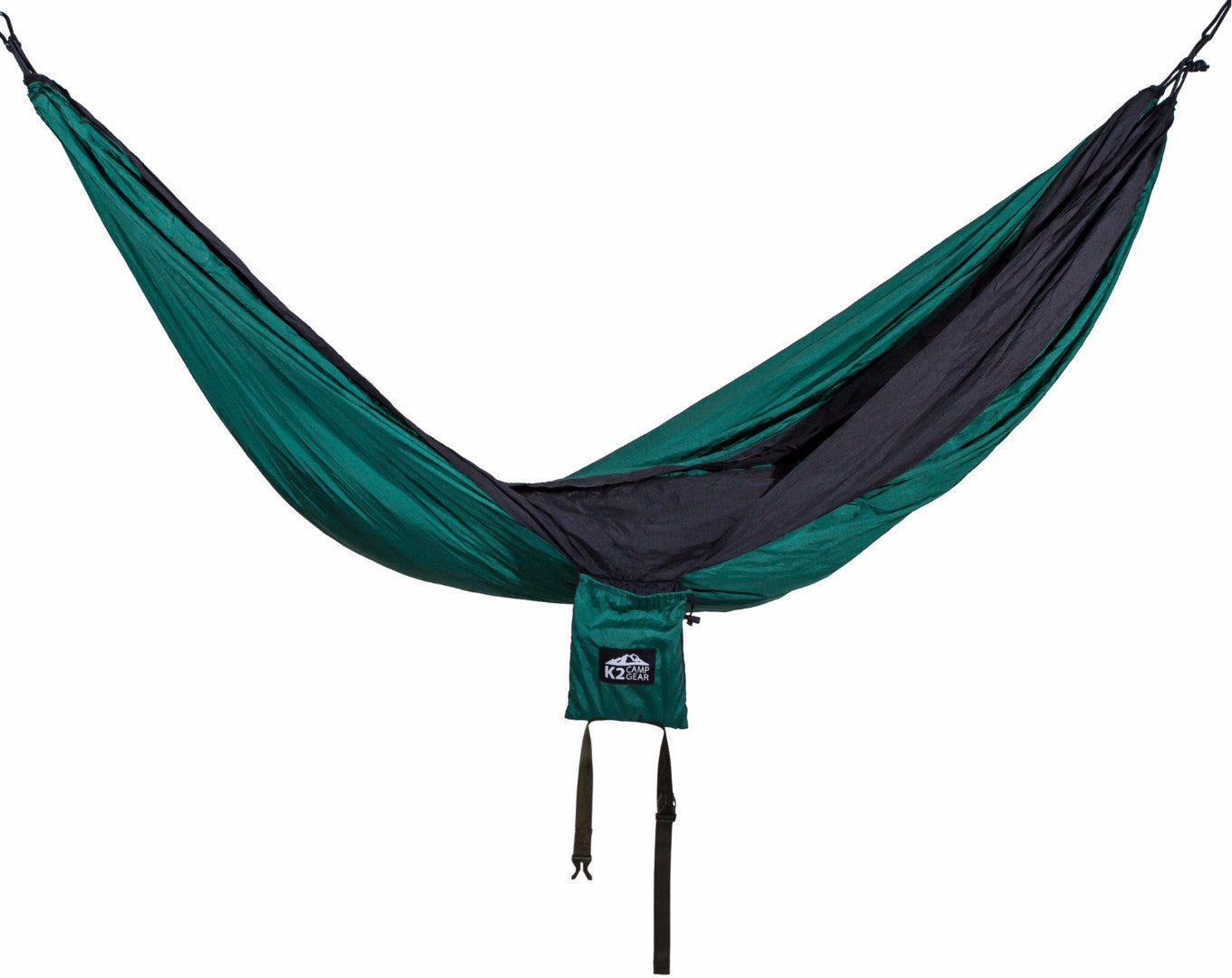 Original Double Camping Hammock (Forest Green/Black) - K2campgear - 4